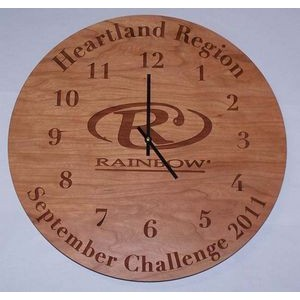 "10"" - Hardwood Clocks - Wall - Laser Engraved - USA-Made"