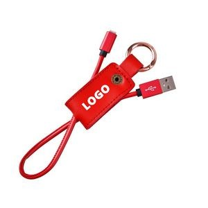 PU Key Chain Charger Cable