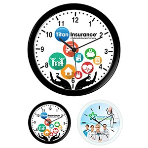 """Wedge"" 10"" Economy Wall Clock"