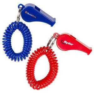 Whistle Coil Key Chain (Direct Import - 8-10 Weeks Ocean)